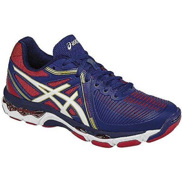 ASICS Womens Gel-Netburner Ballistic Volleyball Shoe, Estate Blue/White/True Red, US / From USA
