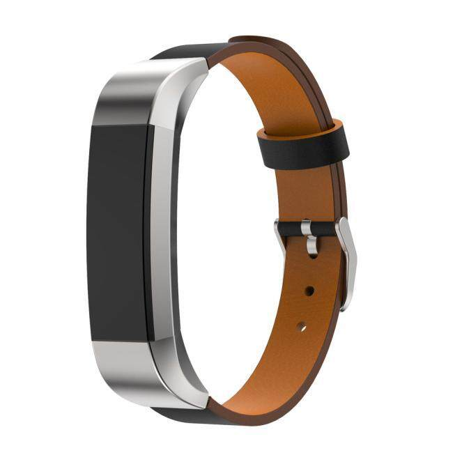 Replacement Genuine Leather Band Strap Bracelet For Fitbit Alta Tracker Black