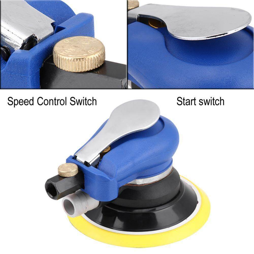 5 Inch Round Air Palm Random Orbital Sander 9000rpm Pneumatic Polisher Hand Sanding Tool - Intl By Duoqiao.