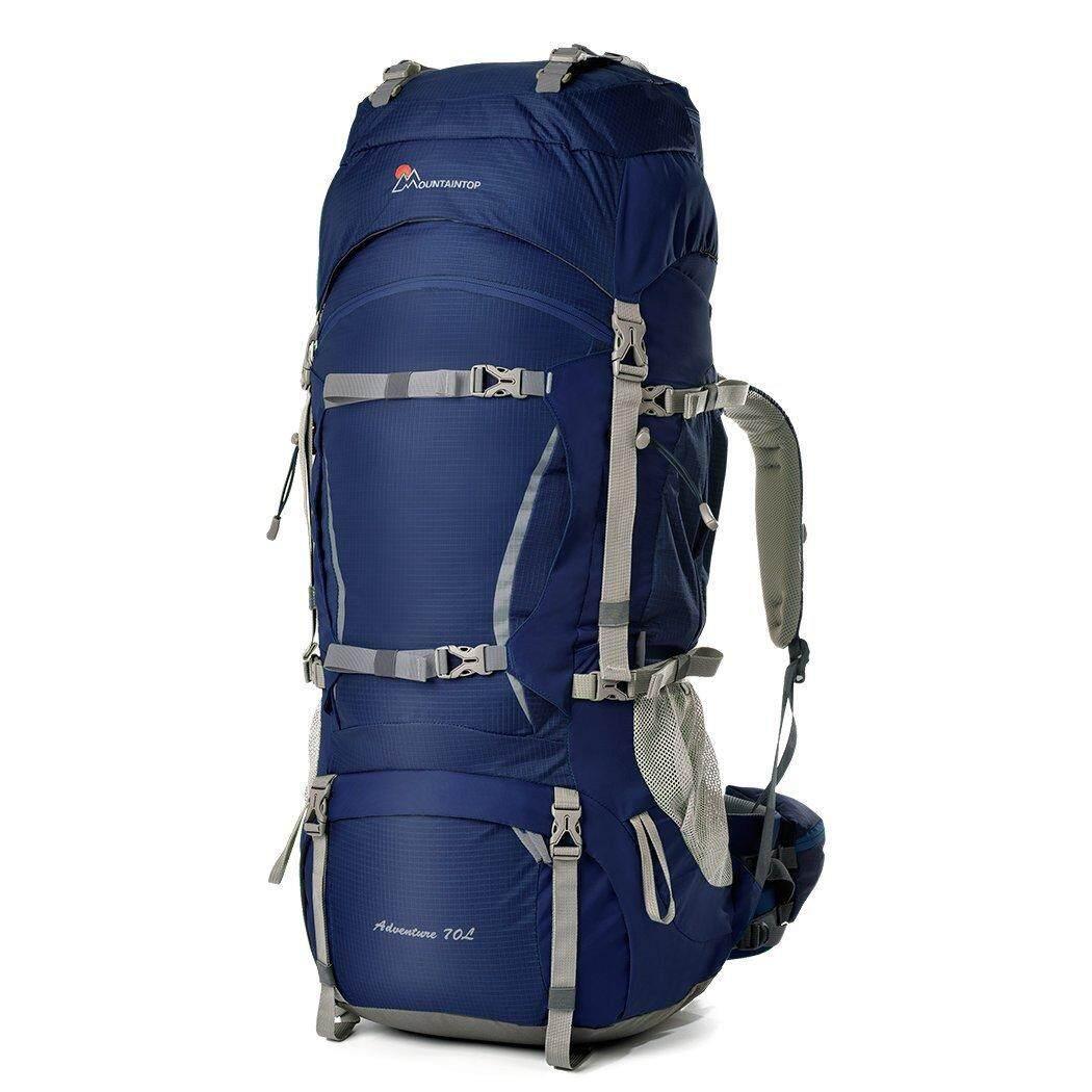 70l Hiking Bag Cologne Material Internal Frame Unisex Travel Outdoor Long Distance Camping Backpack - intl