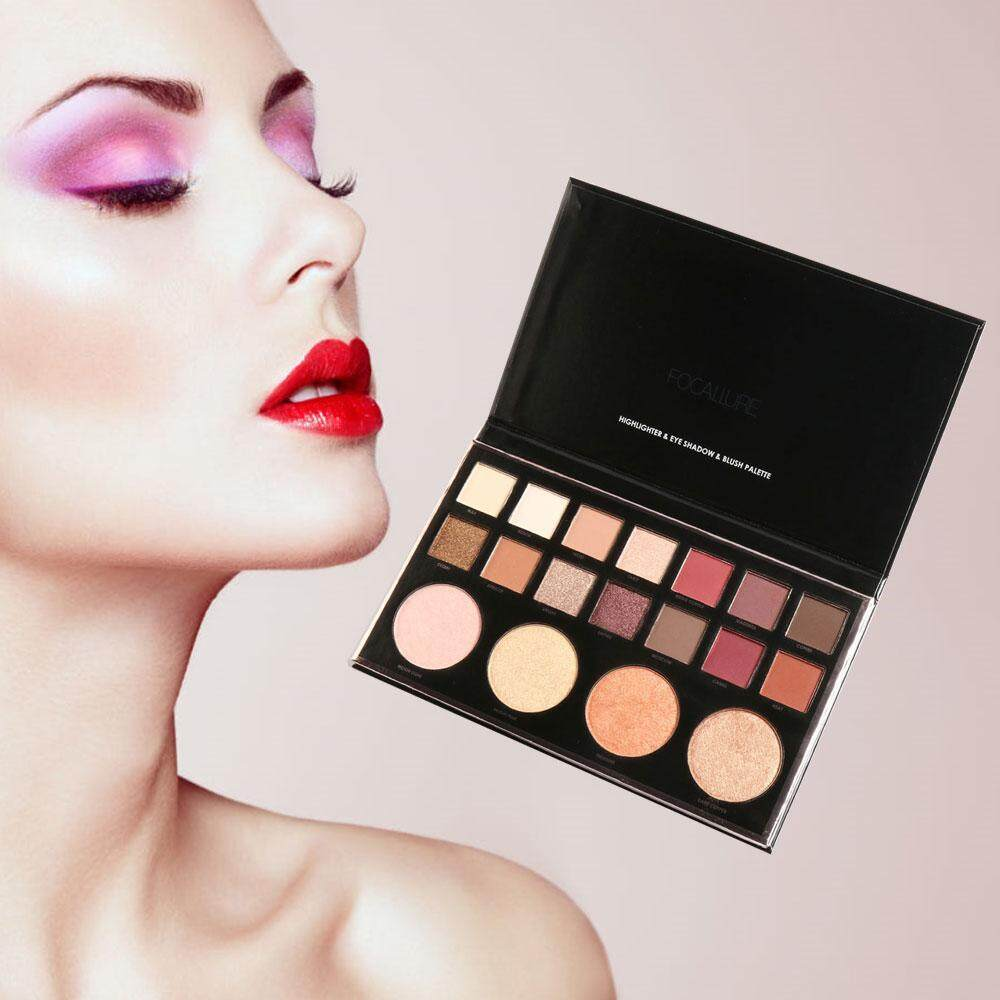 Focallure Eye Shadow Highlighter Women Pro Set Natural 18-Colors Earth Cosmetic Eye - intl