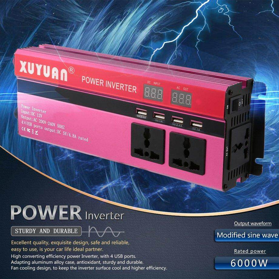 Car Inverter For Sale Power Converter Online Brands Prices Digital Modified Sine Wave Circuit 250 Watts Electronic Era 6000w Solar Dc 12v To Ac 220v Led Display
