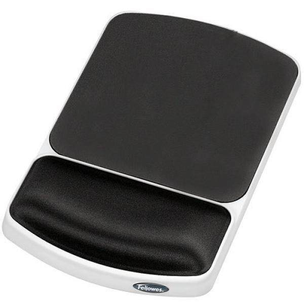 Fellowes Gel Wrist Rest and Mouse Pad, Graphite/Platinum (91741) - intl