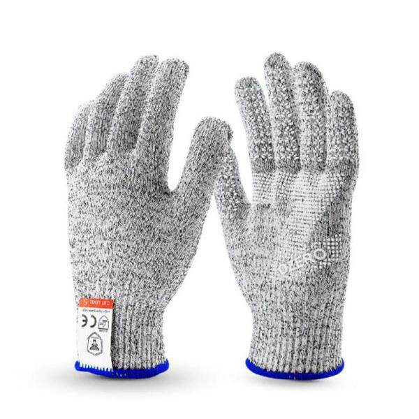 1 Pair Cut-Resistant Protective Wearable Anti-glass Scratches Wire Working Safety Anti-Cutting Gloves # S - Grey L