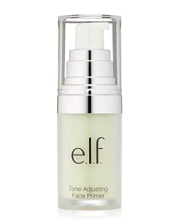 [100% ORIGINAL] e.l.f. Studio Mineral Infused Face Primer, Tone Adjusting Green, 0.47 Ounce