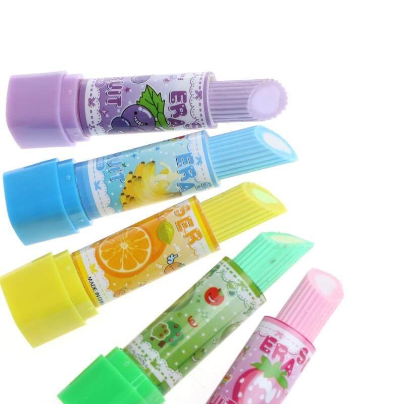 ... Lipstik Cantik Gaya Karet Buah Penghapus Pensil Hadiah Alat Tulis Kantor Mainan-Internasional - 5
