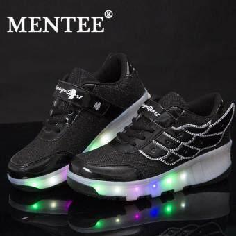 Bandingkan Toko Mentee Ukuran 27-43 Anak-anak Gadis/Anak Laki-laki Lampu LED Lebih Tinggi Tunggal Rol Roda Sepatu Sepatu Sneakers sale - Hanya Rp536.264