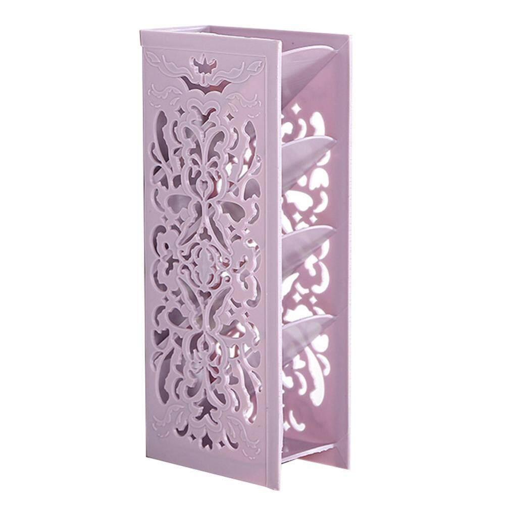 Kotak Penyimpanan Alat Kantor Desktop Storage Keranjang Multifungsi Box Organizer Shanyu Plastic Four Layer Table Desk Stationery Case Holder Decor Purple