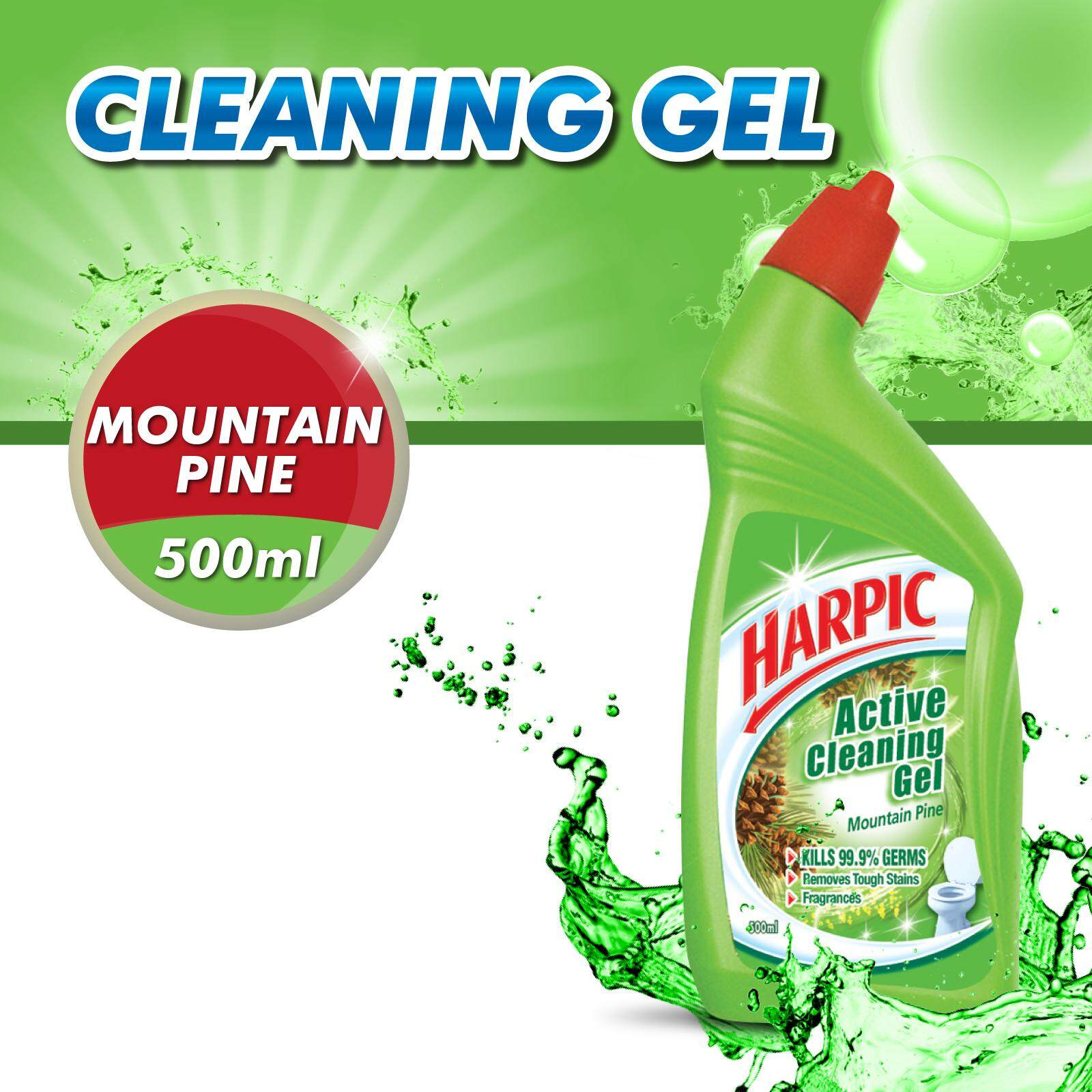 Features Harpic Active Cleaning Gel Mountain Pine 500ml Dan Harga
