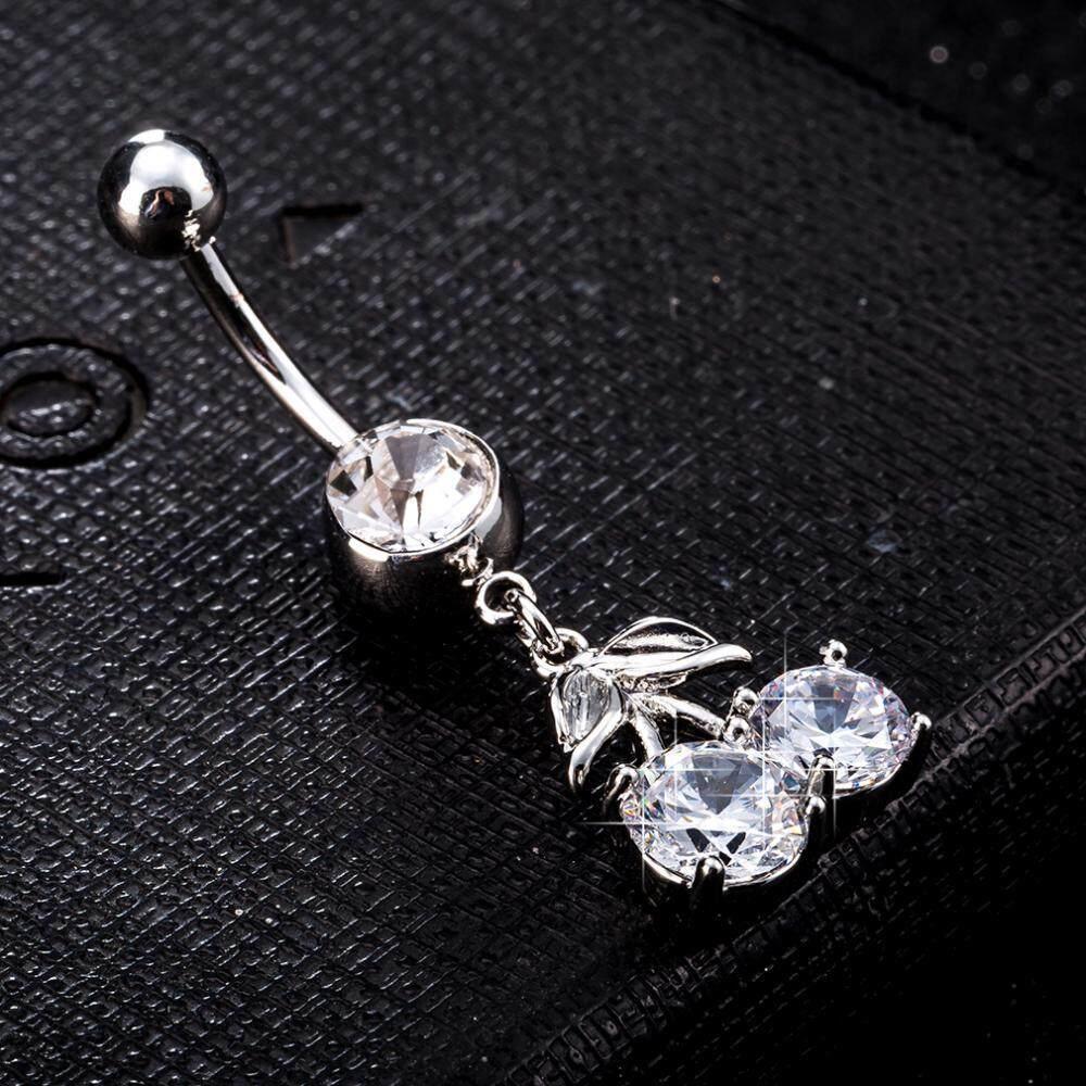 Wanita Stainless Steel Putih Zirkon Kalung Anting Tindik Set Perhiasan - Toko Online Terbaik