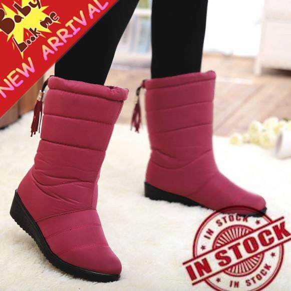 e032a7a61a5 New Arrival Winter Women Snow Boots Fashion Medium Tube Slope with Warm  Plus Velvet Boots Waterproof Anti-slip with Tassels