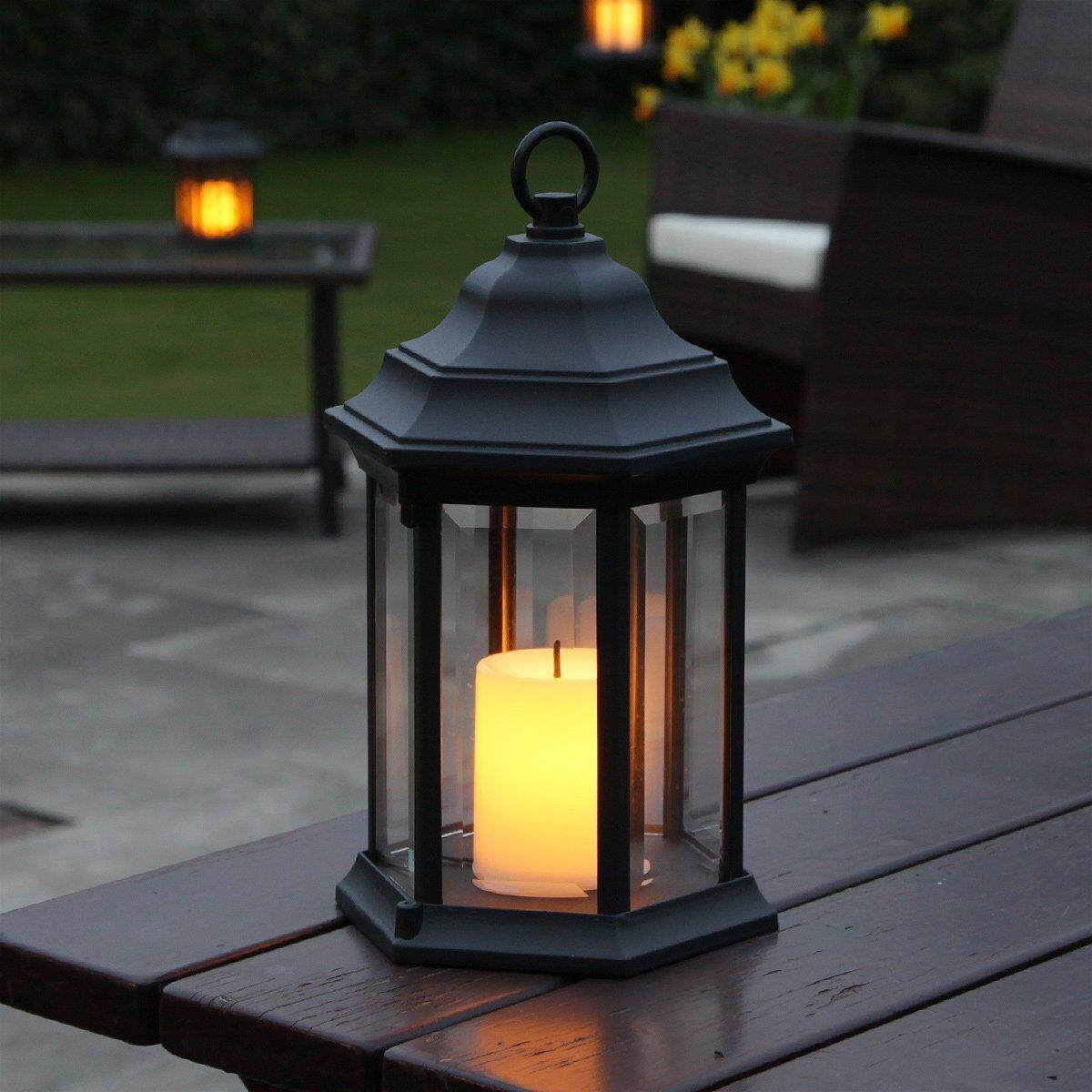 Outdoor battery operated lanterns with timer outdoor lighting ideas for Battery powered exterior lights