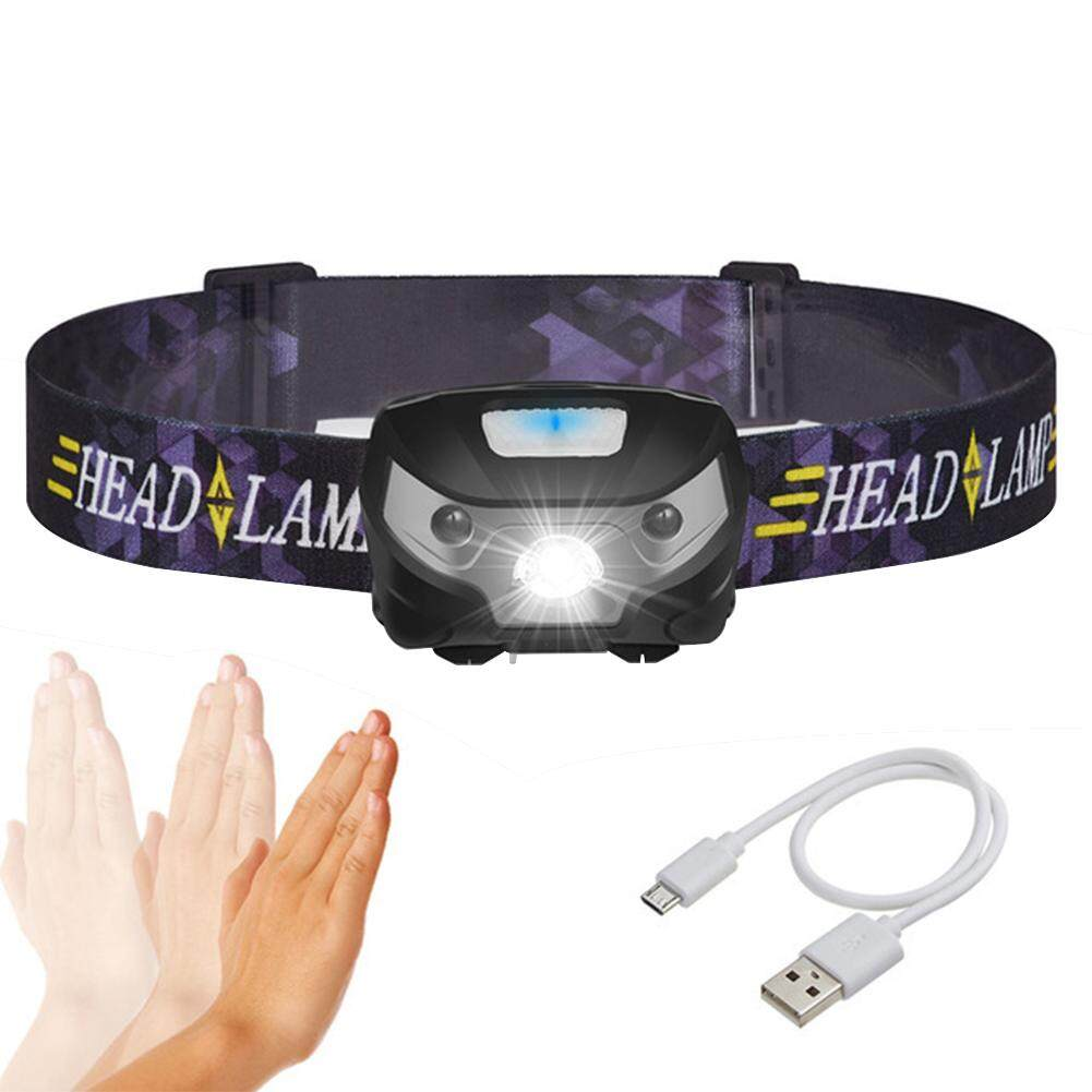 Mua LumiParty Intelligent  Body Motion Sensor LED Headlight USB Charging Mini Headlamp Outdoor Light
