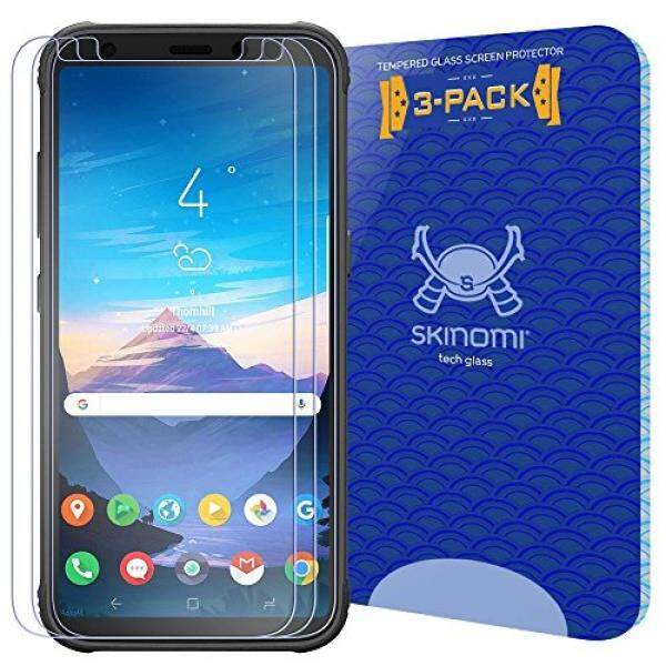 Galaxy S8 Active Screen Protector (3-Pack), Skinomi Tech Glass Screen Protector