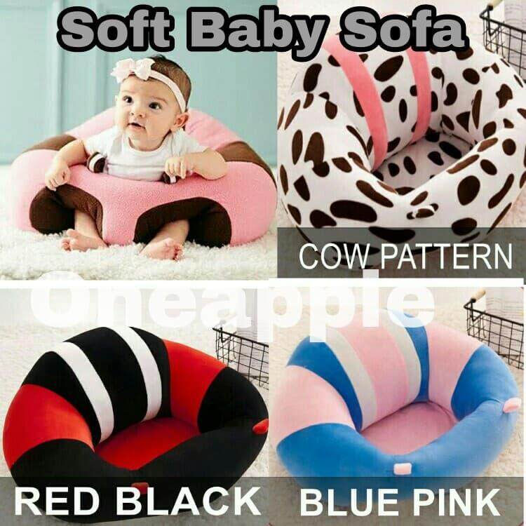 Baby Plush Support Seat Soft Sofa Infant Learning To Sit Chair Keep Sitting Sofa