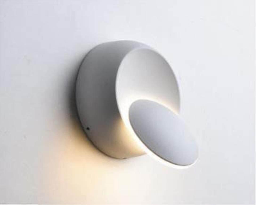 BSLAMP Led Wall Lamp 360 Degree Rotation Adjustable Bedside Light 4000k Black Creative Wall Lamp Black Modern Aisle Round Lamp - intl