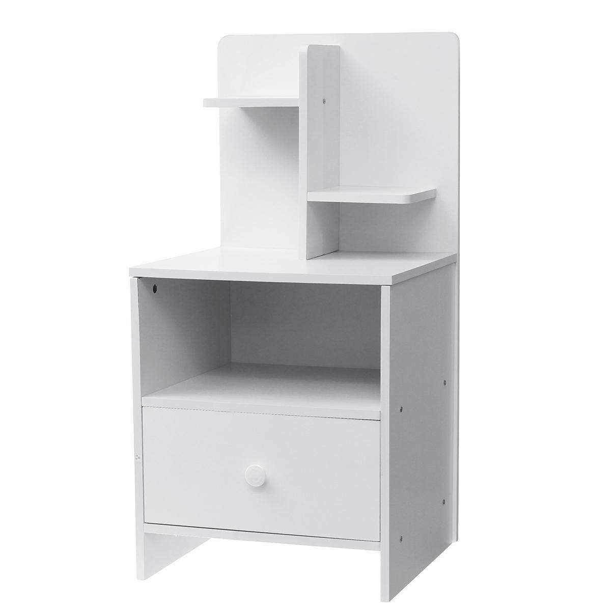 Modern Bedside Table With Drawer Nightstand Storage Bedroom Cabinet Shelf Units Yellow white
