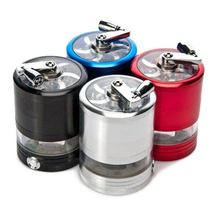 Electric LED hand crank electric light grinder - intl