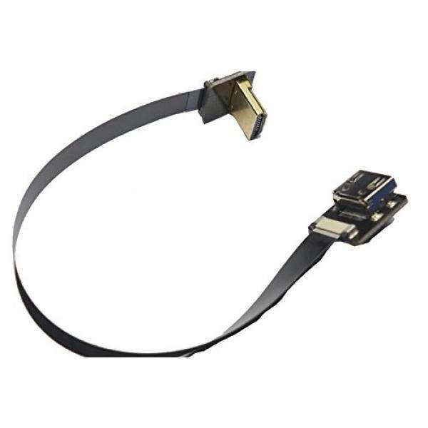 Computer Cable Adapters Short Flat Slim Thin HDMI FFC FPV HDMI Cable Standard HDMI Female plug to Standard HDMI male 90 degree for RED blackmagic BMCC SONY FS7 Canon C300 Black 10cm - intl