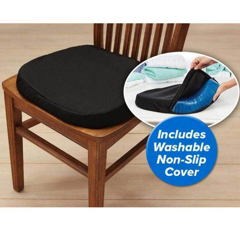 Onlook Foonee Comfort Gel Seat Cushion Elastic Gel Cushion Seat Pad Pressure Absorbs Honeycomb Sitter With Black Cover For Chair Office By Onlook.