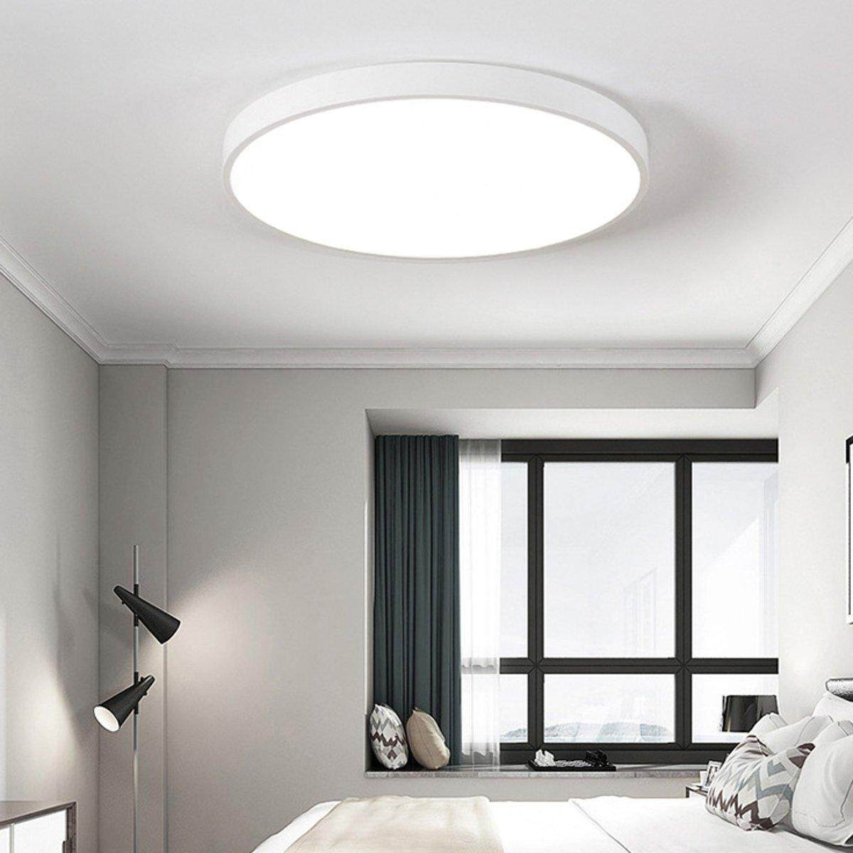 Modern Dimming LED Ceiling Down Light Bedroom Lamp Surface Mount Remote Control