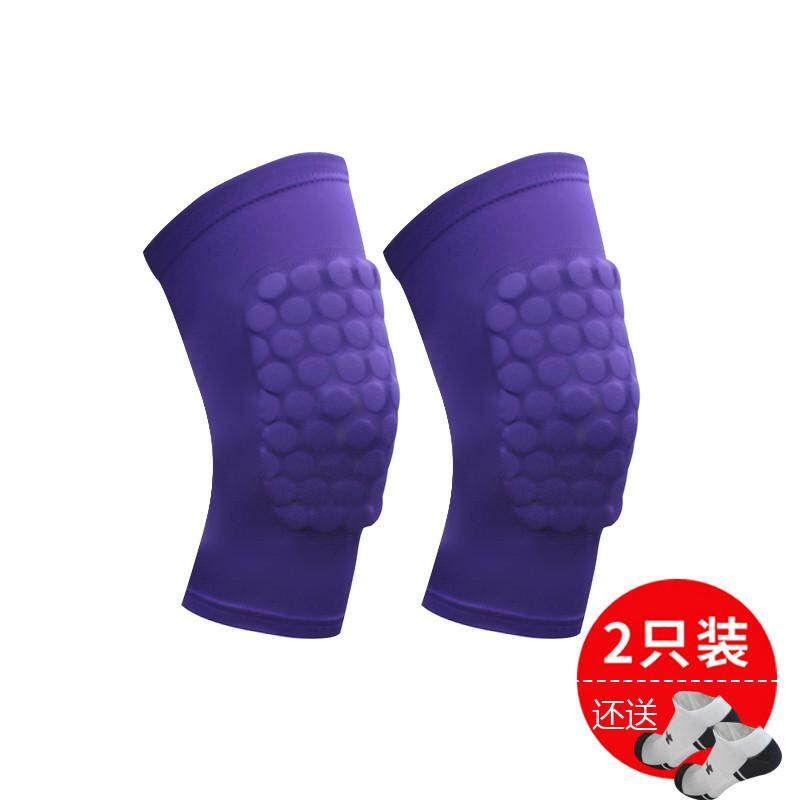 【Purple two short paragraph small beat big one yards】Owen basketball cellular knee pads