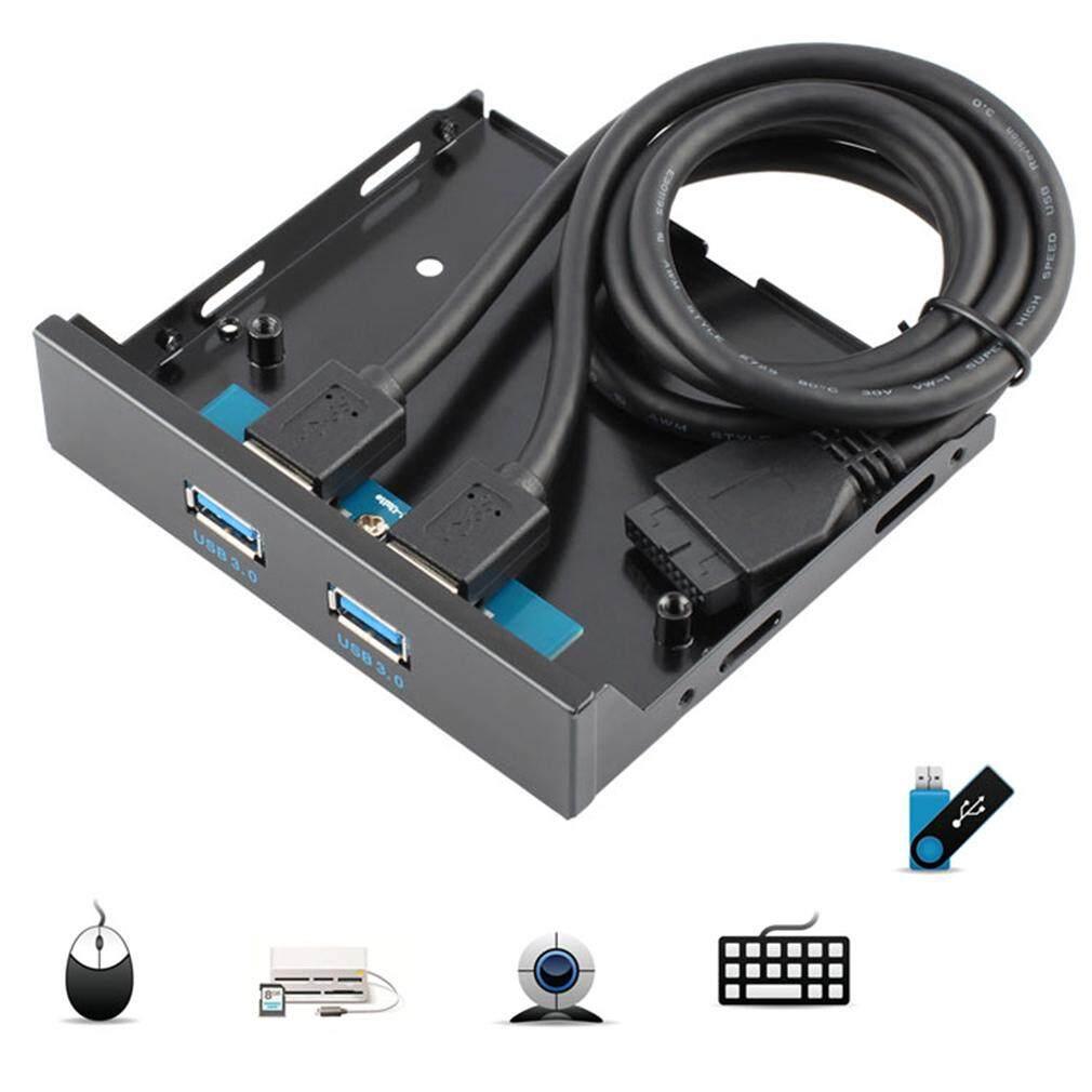 Hình ảnh USB 3.0 20 Pin 2 Ports Front Panel Floppy Disk Bay Hub Bracket Cable - intl