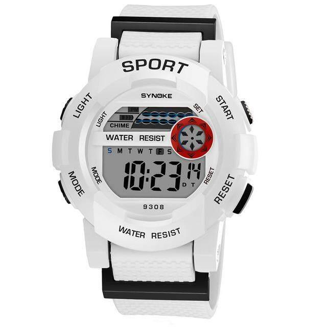 Synoke นาฬิกายี่ห้อเด็กน่ารักเด็กกีฬาการ์ตูนยางเด็กดิจิตอลนำนาฬิกาข้อมือ 9308 - สนามบินนานาชาติ By Star Store.