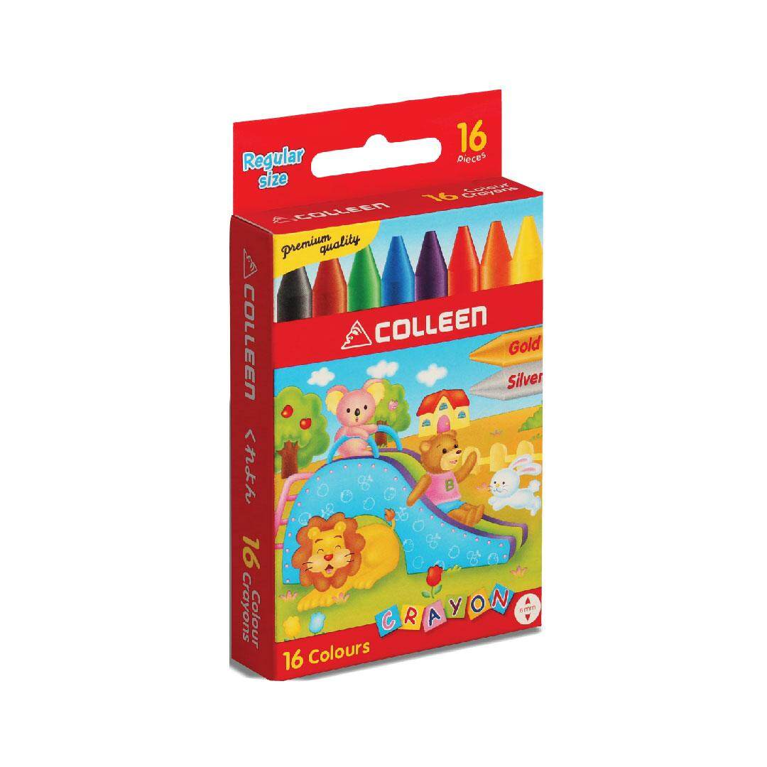 1REGULAR WAX CRAYON (16 COLORS) - ROUND