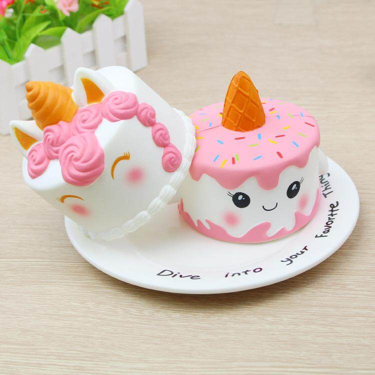 ... 11CM Jumbo Squishy Cute Unicorn Mermaid Whale Cake Squishies Slow Rising Squeeze Toy Phone Strap Decors ...