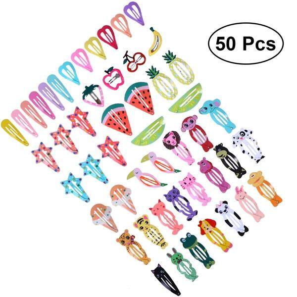50pcs Multi-Style Baby Girls Hair Clips Hair Bows Hair Claw Snap Hairpin Barrettes Hair Accessories For Toddlers Baby Girls Kids Children By Eshopdeal.