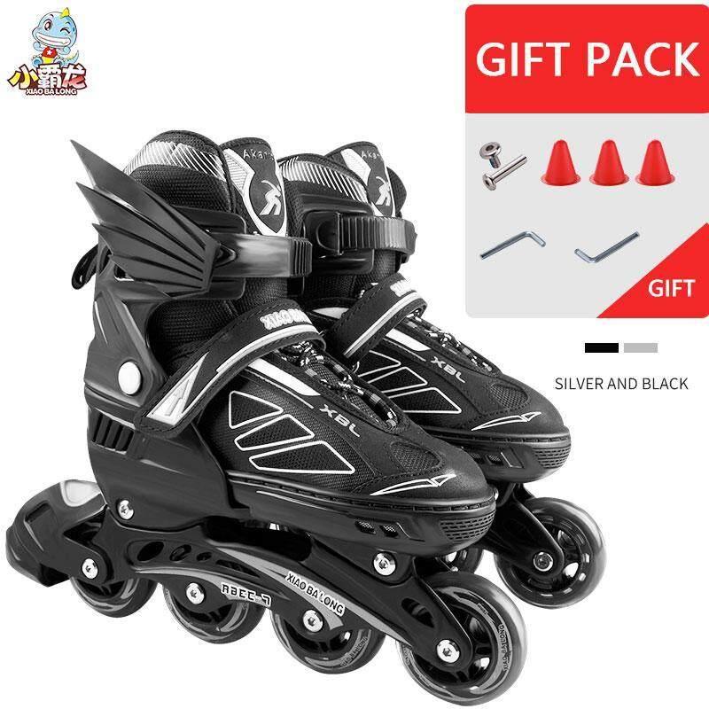 Phân phối Chuyên nghiệp Voan Sọc Nội Tuyến Bánh Giày Trượt Patin Giày Trượt Giá Rẻ Trượt Băng Nghệ Thuật dành cho Thanh Thiếu Niên và Người Lớn