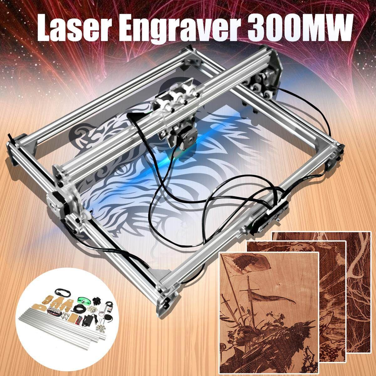 Diy Laser Mini Ukiran Mesin Pemotong Printer Komputer Kit Adjustable 500 Mw By Audew
