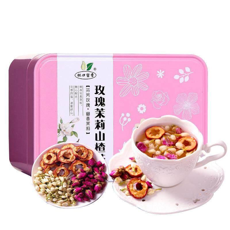 ดอกกุหลาบดอกมะลิ Hawthorn ถ้วยชาปากดอกไม้หอมชาดอกไม้ปลอมสำหรับตกแต่งชามะลิ Hawthorn ดอกไม้การผสมกันของชา Tea-100g - Intl.