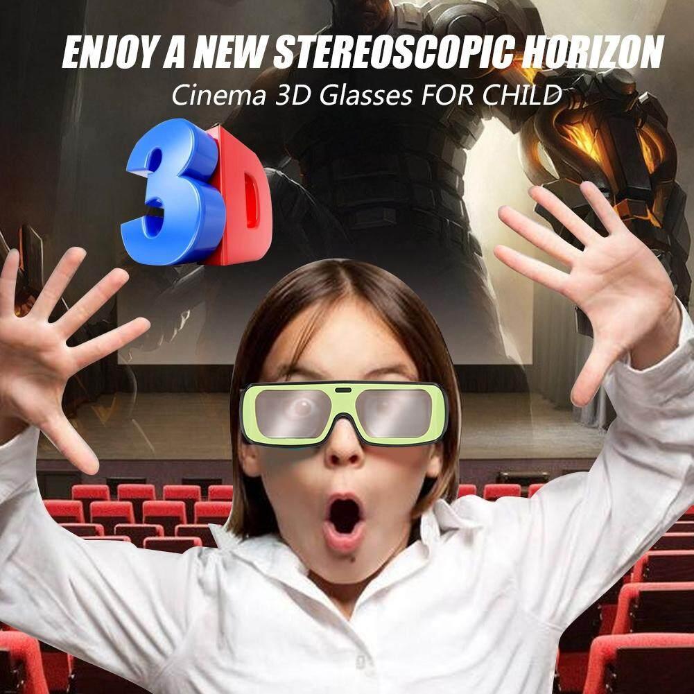 Hình ảnh Children 3D Glasses 2PCS Plastic Circular Polarized 3D Glasses Full Frame 3D Glasses Movie Glasses For Child - intl