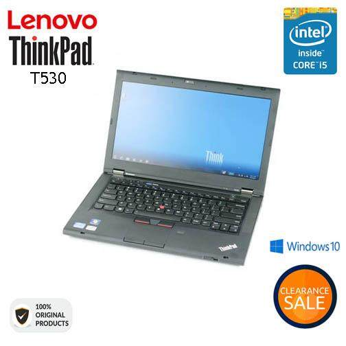 LENOVO THINKPAD T530 - CORE I5 V-PRO WITH BOX PACK [ORIGINAL REMANUFACTURED] Malaysia