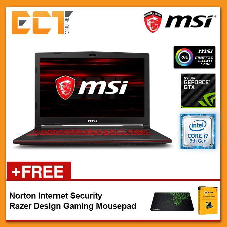 MSI GL63 8RC-412 Gaming Laptop (i5-8300H 4.00GHz,1TB,4GB,GTX1050-4G,15.6 FHD,W10) Malaysia