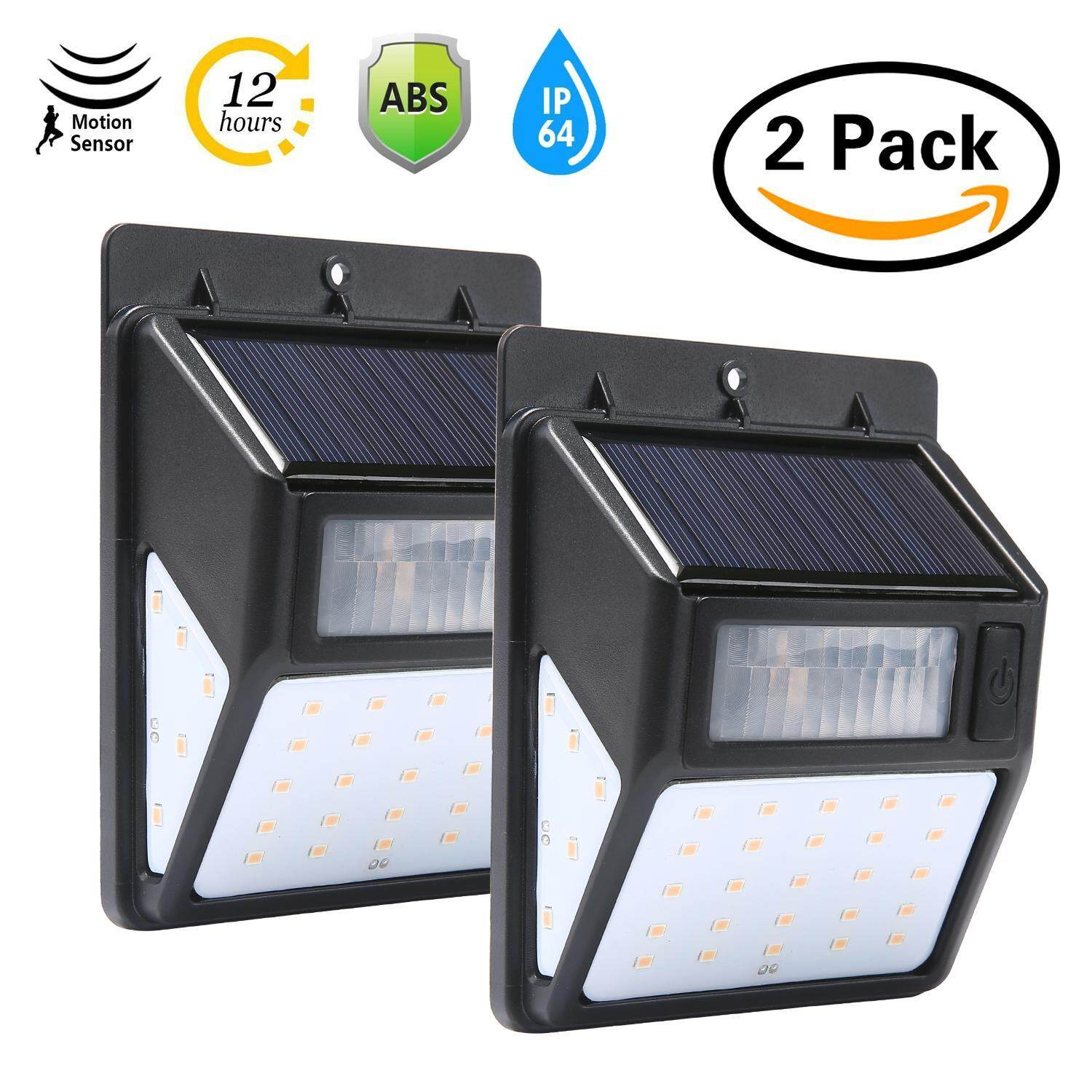 Vankel Solar Lights Outdoor Motion Sensor Security Light 20LED for Garage Path Wall Walkway Patio Deck Shed