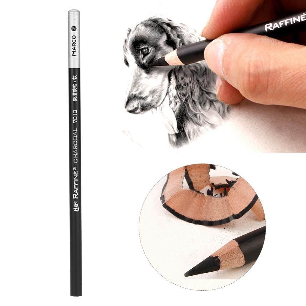 12pcs/Lot Charcoal Pencil Set Professional Art Drawing Sketching Pencils Stationery (Soft) -