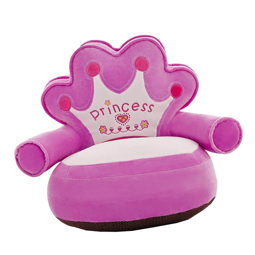 BolehDeals Adorable Children Seat Sofa Cover Armchair Baby Chair Bean Bag #1 Purple