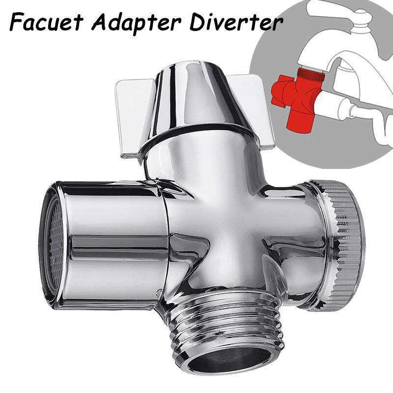Deals For 3 Way Facuet Adapter Diverter G1 2 T Adapter Valve For Shower Tap Copper Intl