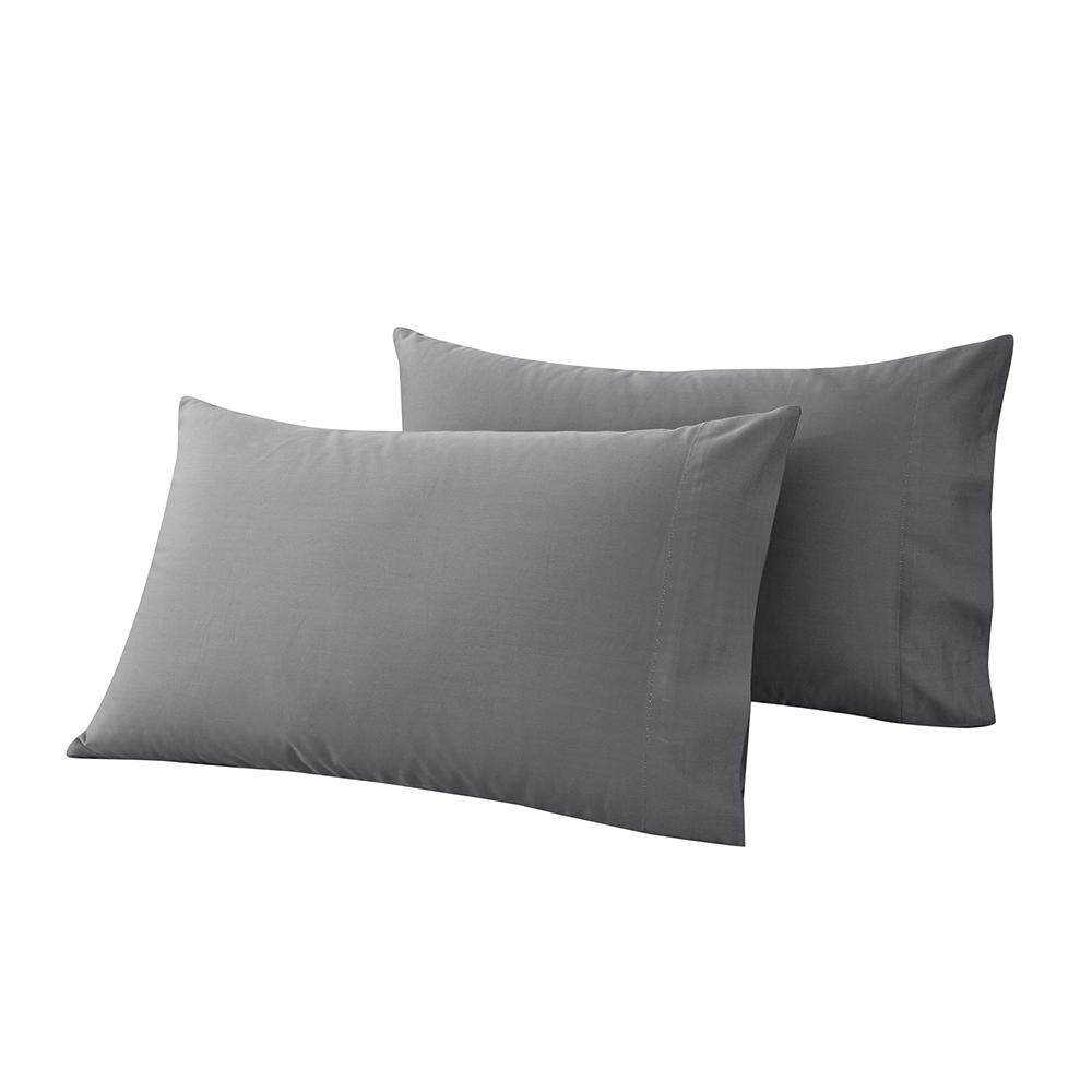 Htovila 2pcs/set 300 Thread Count 100% Cotton Pillow Cases Soft Breathable Envelope Closure End Pillow Covers Pillowcases--Grey, Queen Size By Tongda Store.