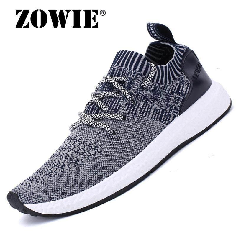 Zowie Pria Sepatu Kasual Pria Sneaker Menyerap Keringat Sepatu Olahraga Lari Sepatu Sepatu Enteng untuk Pria