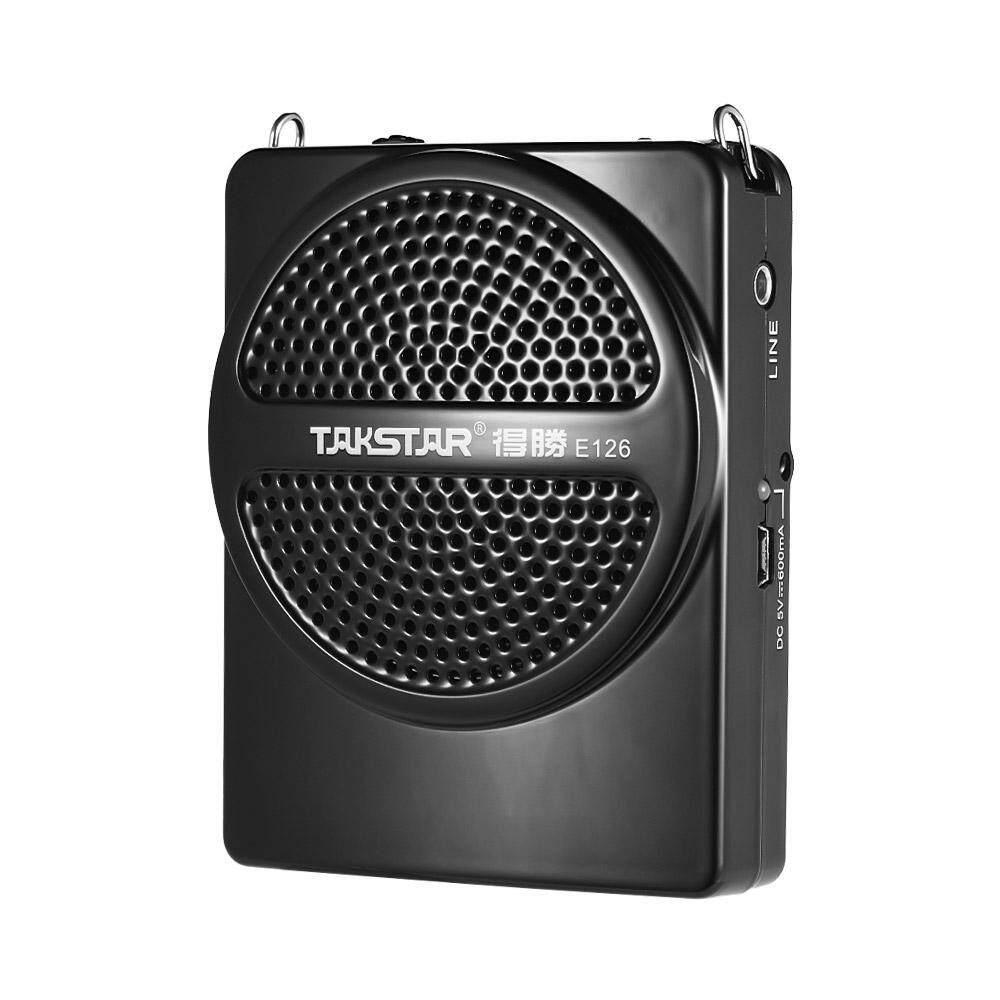 Takstar E126 8 W Mini Ukuran Isi Ulang Penguat Suara Amp dengan Mikrofon Kabel AUX Input untuk Pemandu Wisata Guru Presentasi Pasar Promosi - 3