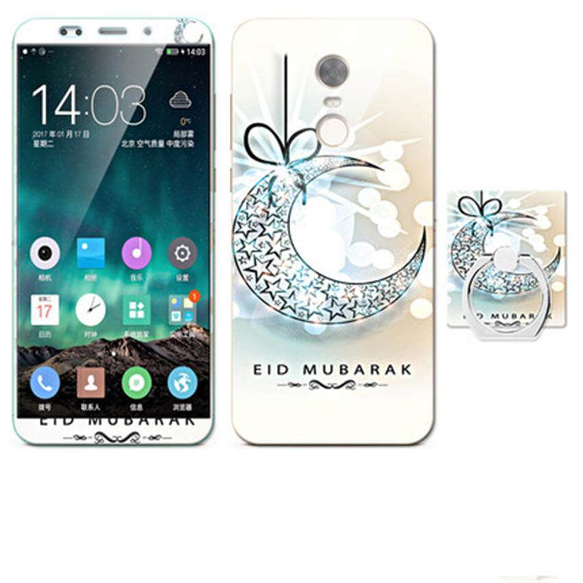 Mewah 3D Lukisan Depan + Belakang Penuh Case Cover Warna Kaca Antigores Sarung untuk Xiaomi Redmi