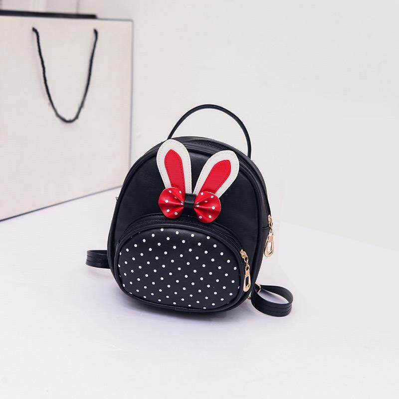 ffe9f101cd1d MTENLE Mini Small Backpacks For Teenage Girls Bunny Cute Backpack Women  Leather Polka Dot Bow Back