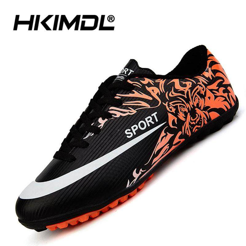 HKIMDL Men Soccer Shoes Indoor Futsal Shoes with Socks Professional Trainer  TF Football Boot Futbol Black 3104cab869