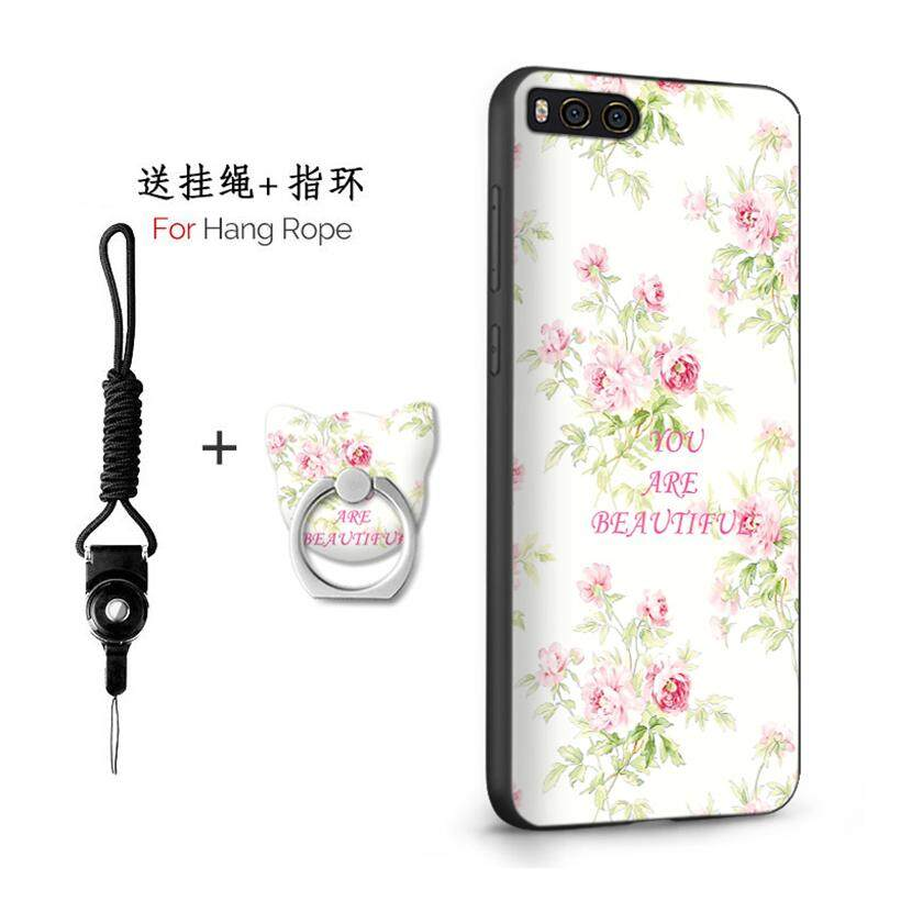 Untuk Xiaomi Mi Note 3/5.5 Inch Case 3D Relief Silikon TPU Berbahan Lembut Anti-Knock Shockproof Kembali Kulit Penutup (1X Hang rope) + (1 X Sama Bracket)