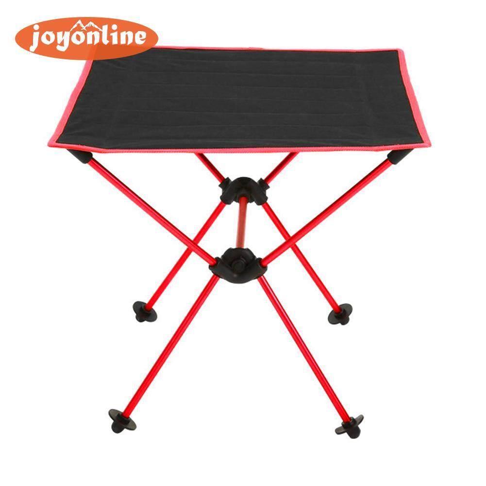 Hình ảnh Waterproof 600D Oxford Aluminium Alloy Foldable Table Desk for Outdoor BBQ(Black)- - intl