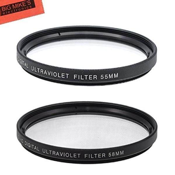 55mm and 58mm Multi-Coated UV Protective Filter for Nikon D5600, D3400 DSLR Camera with Nikon 18-55mm f/3.5-5.6G VR AF-P DX and Nikon 70-300mm f/4.5-6.3G ED